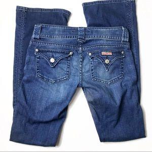 Hudson bootcut flap pocket dark wash jeans